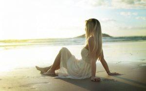 море девушка