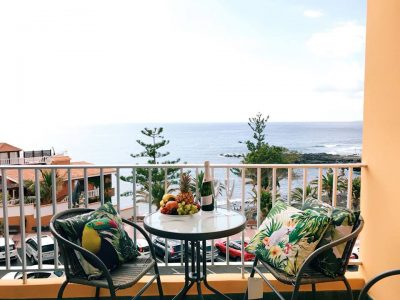Апартаменты с видом на океан Тенерифе/ Пуэрто-де-Сантьяго терраса с видом
