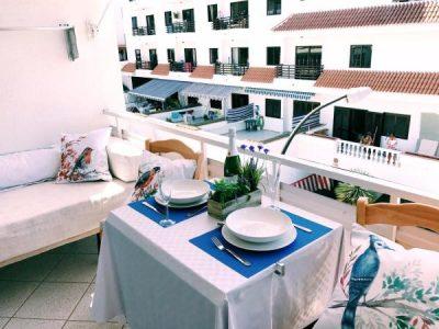 Уютная квартира для отпуска в Пуэрто де Сантьяго/Тенерифе романтический ужин