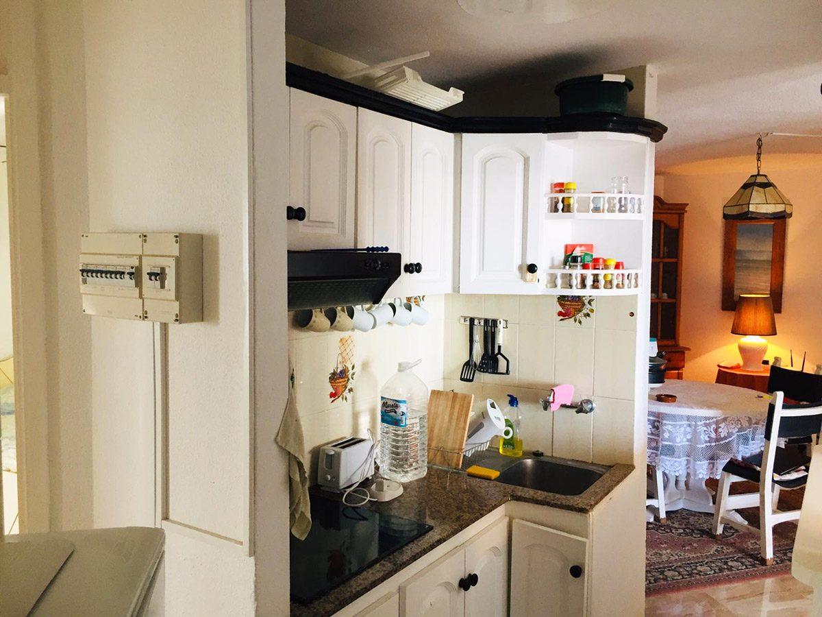 Уютная квартира с видом на океан в Los Silos кухонная мебель