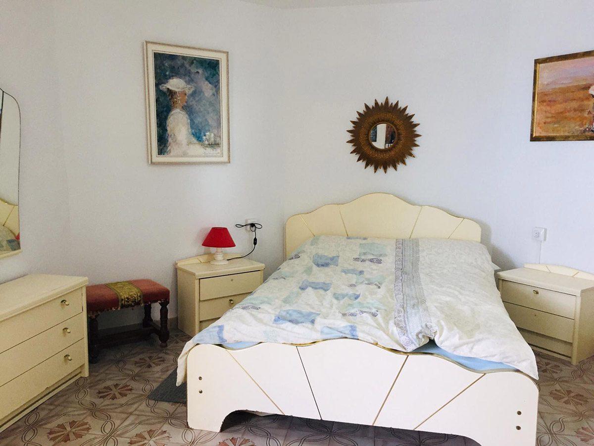 Уютная квартира с видом на океан в Los Silos спальня