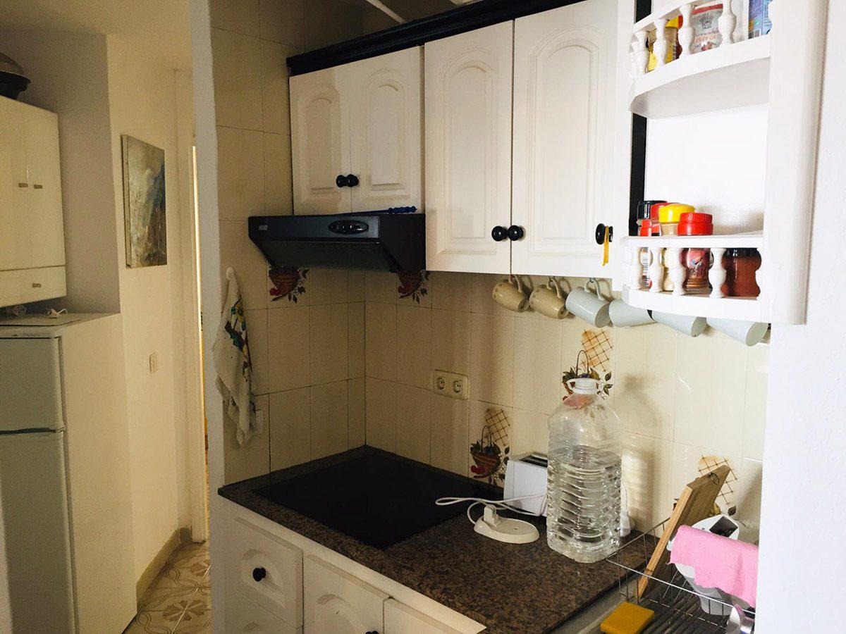 Уютная квартира с видом на океан в Los Silos кухня