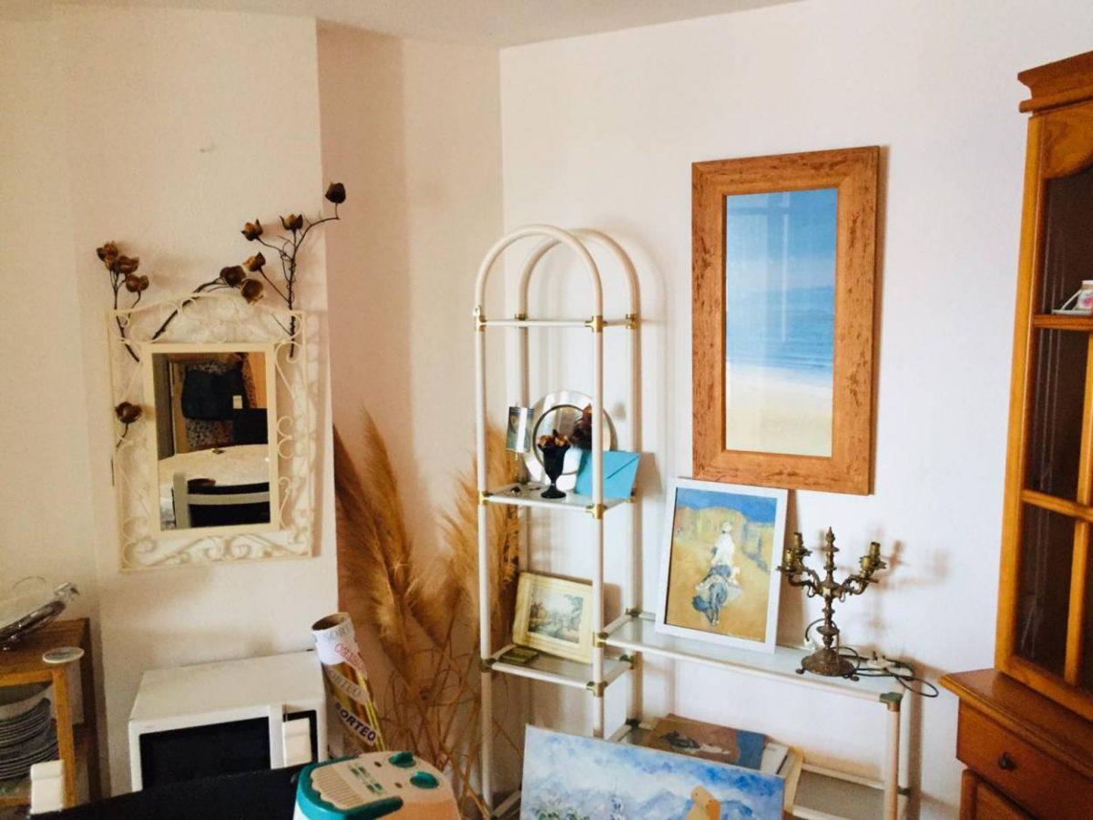 Уютная квартира с видом на океан в Los Silos интерьер гостиной