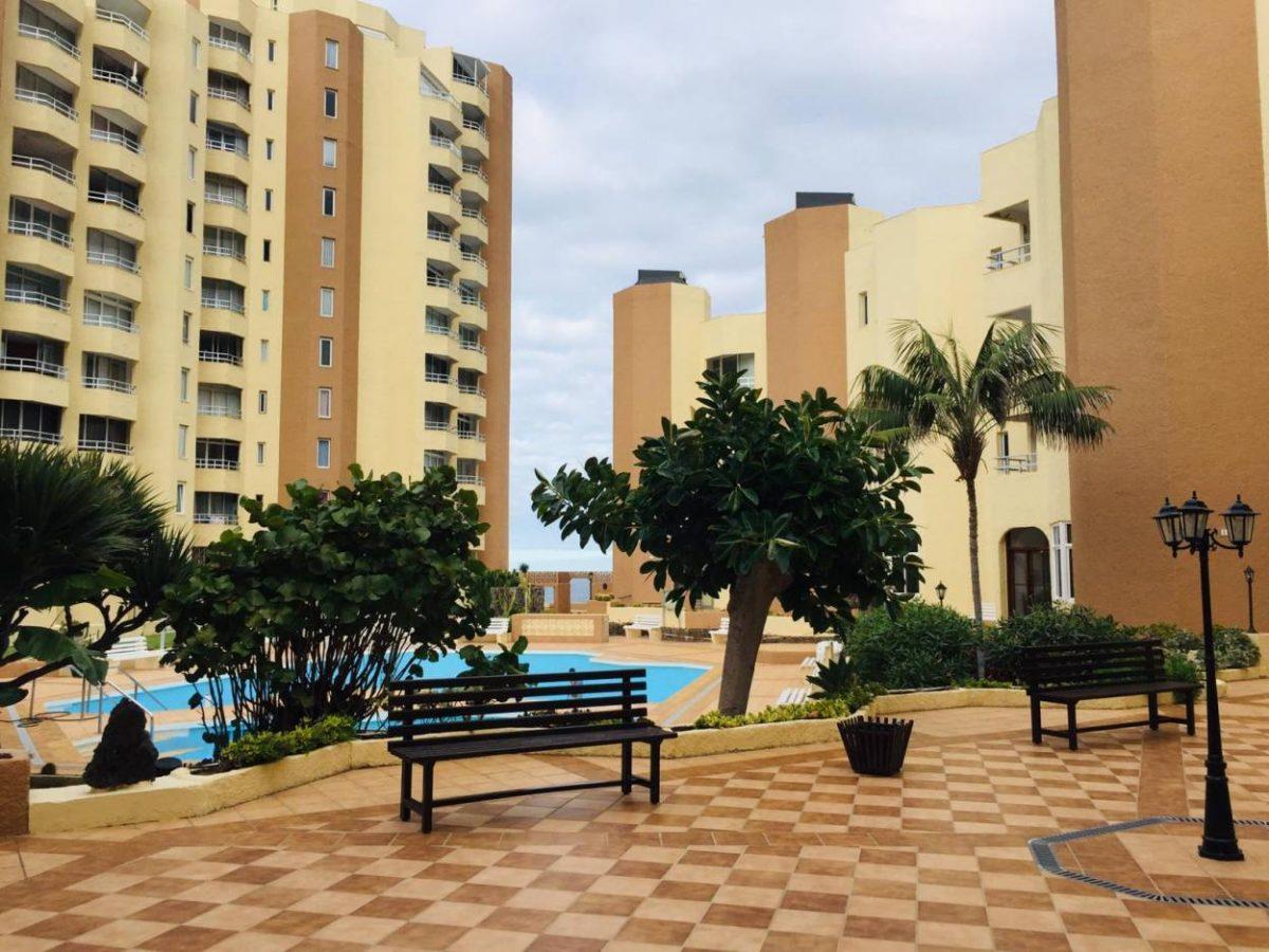 Уютная квартира с видом на океан в Los Silos комплекс с бассейном