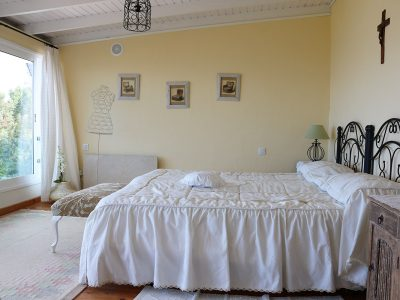 Гостевой дом в Икод-де-Лос-Винос спальня с панорамным видом